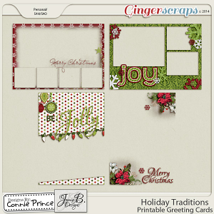 Holiday Traditions - Printable Greeting Cards