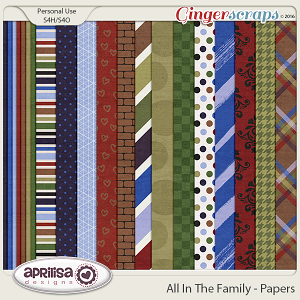 All In The Family - Papers by Aprilisa Designs