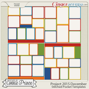 Project 2015 December - Stitched Pocket Templates