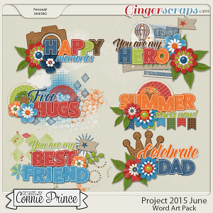 Project 2015 June - WordArt Pack
