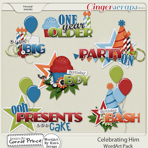 Celebrating Him - WordArt