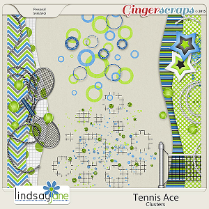 Tennis Ace Clusters by Lindsay Jane