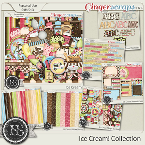 Ice Cream Digital Scrapbook Collection
