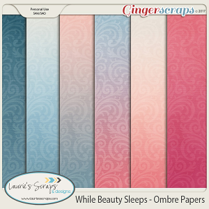 While Beauty Sleeps Ombre Papers