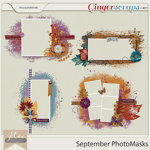 September Photo Masks by JoCee Designs