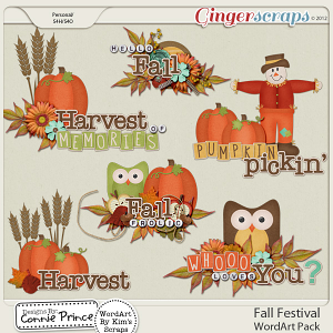 Fall Festival - WordArt Pack