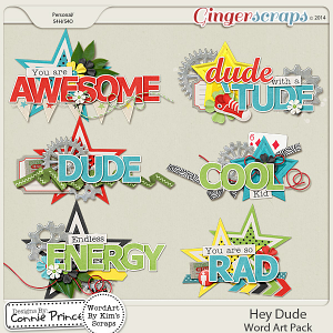 Hey Dude - Word Art