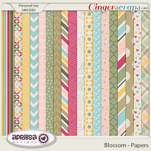 Blossom - Papers by Aprilisa Designs