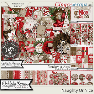 Naughty Or Nice Digital Scrapbooking Bundled Collection