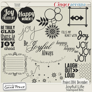 Project 2014 December: Joyful Life - Stamped Bits