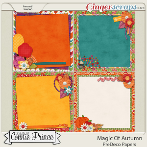 Magic Of Autumn - PreDeco Papers