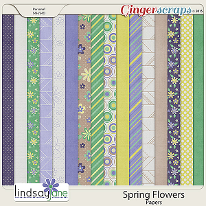 Spring Flowers Papers by Lindsay Jane