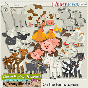 On the Farm Livestock by Clever Monkey Graphics