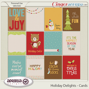 Holiday Delights - Cards by Aprilisa Designs