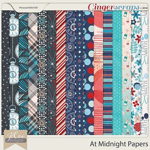 At Midnight Papers by JoCee Designs