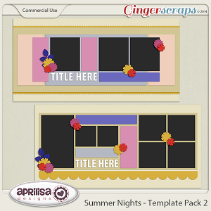Summer Nights - Template Pack 2