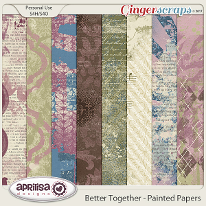 Better Together - Painted Papers by Aprilisa Designs