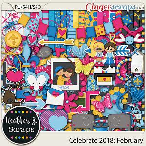 Celebrate 2018: February KIT by Heather Z Scraps