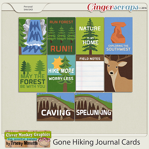 Gone Hiking Journal Cards by Clever Monkey Graphics