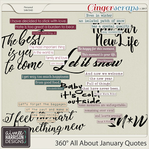 360° All About January Quotes by Aimee Harrison