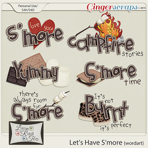 Let's Have S'more {wordart} by Little Rad Trio