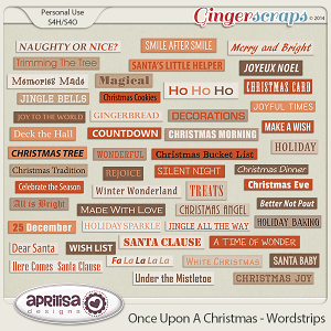 Once Upon A Christmas - Wordstrips