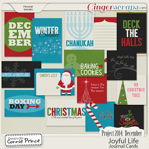 Project 2014 December: Joyful Life - Journal Cards