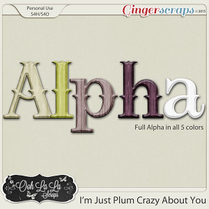 I'm Just Plum Crazy About You Alphabets