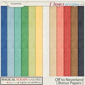 Off To Neverland (bonus papers)