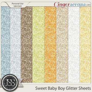 Sweet Baby Boy Glitter Sheets