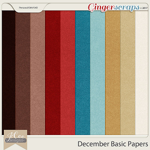 December Basic Papers by JoCee Designs