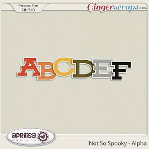 Not So Spooky - Alpha by Aprilisa Designs
