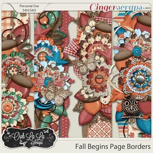 Fall Begins Page Borders