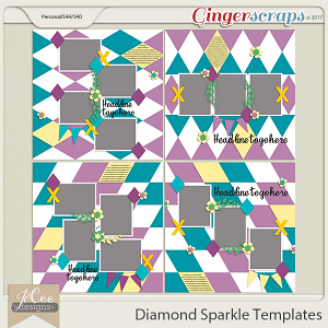Diamond Sparkle Templates