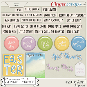 #2018 April - Snippets by Connie Prince