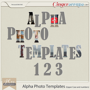 Alpha Photo Templates by JoCee Designs