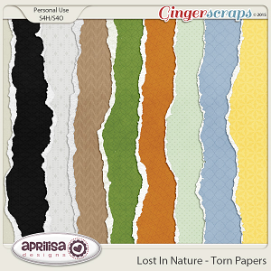 Lost In Nature - Torn Papers by Aprilisa Designs
