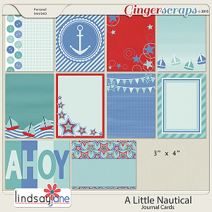 A Little Nautical Journal Cards by Lindsay Jane