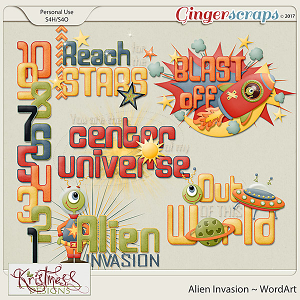 Alien Invasion WordArt Clusters