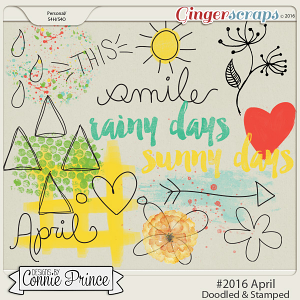 #2016 April - Doodles & Stamps