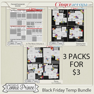 Black Friday 2017 Template Bundle by Connie Prince