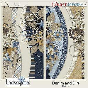 Denim and Dirt Borders by Lindsay Jane