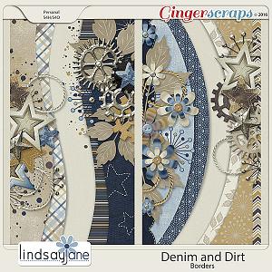 Denim and Dirt Borders by Lindsay Jane
