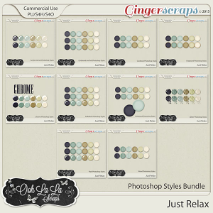 Just Relax Photoshop Styles Bundle
