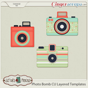 Photo Bomb - CU Layered Templates - Scraps N Pieces
