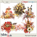 Harvest Sunset Clusters by Snickerdoodle Designs