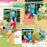 Layout using Hello summer by HeartMade Scrapbook
