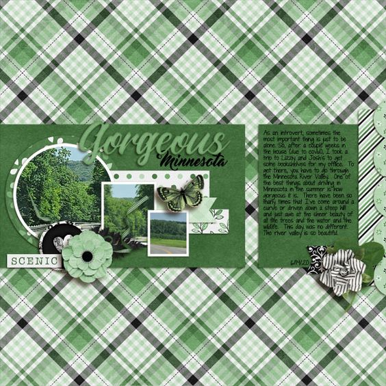 CT Layout using White Space Volume 49 12x12 Digital Scrapbooking Template By Connie prince
