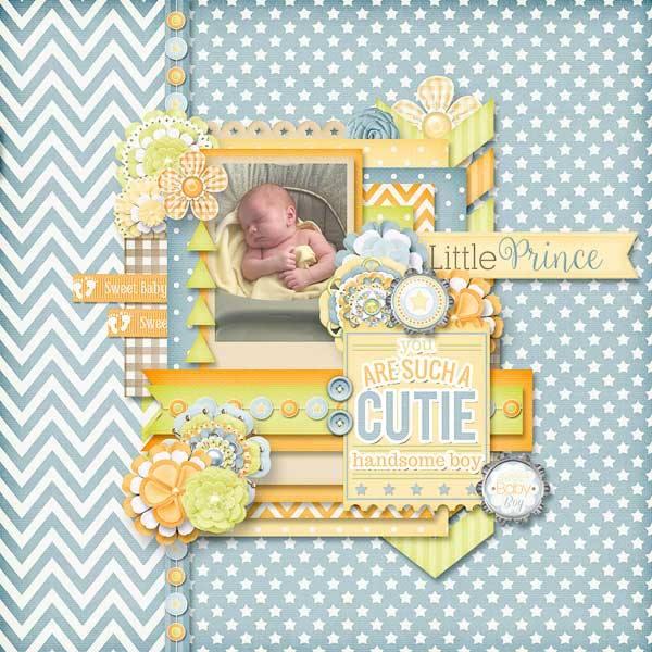 Gingerscraps Kits Sweet Baby Boy Digital Scrapbooking Collection