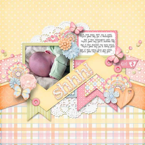 gingerscraps    bundled goodies    sweet baby girl digital scrapbooking collection